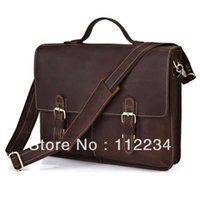 class a bags - A Class CRAZY HORSE Leather Briefcase Hand Made Men s Messenger Bag Laptop Hand Bags R