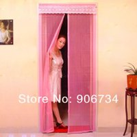 Wholesale 2014 Rushed High Quality set Anti Mosquito Bug Fly Curtain Mesh Net Screen Door Magnetic New