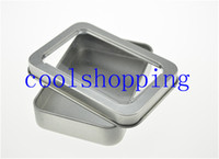 Wholesale DHL Freeshipping open window Metal Storage Boxes with sponge Storage Box Vintage Metal case cm