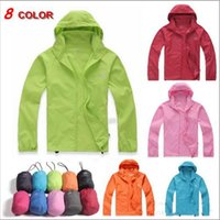 Wholesale 8 color Sun Protection Clothing Outdoor Sport Waterproof Jacket Quick dry Clothes Skinsuit Plus Size Outwear Thin Coat Frozen A503
