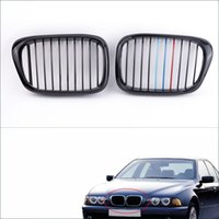 Wholesale 2Pcs Gloss Black M color Front Kidney Grille for BMW E39 Series