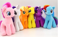 horse doll - 2015 hot selling color cm TY version of the My Little Pony small Ma Baoli rainbow Horse Plush Toy Doll Fedex