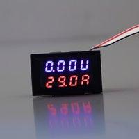 Wholesale 1pcs DC V A Voltmeter Ammeter Blue Red LED Panel Amp Digital Volt Gauge meter Hot Worldwide