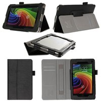 Wholesale Card Wallet Hand Strap Leather Case Stand Cover Skin For Toshiba Excite c AT7 B8