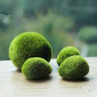 Wholesale Green Artificial Moss Stones Grass Bryophytes Home Garden Bonsai Decoration For Garden Path
