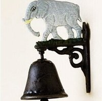 acting process - FBH061544 Rural vintage cast iron process manual door bell wall act the role ofing