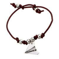 airplane hearts - ISHOW Ancient Silver Airplane Charm with Double Brown Leather CCB Accessory Chain Adjustable Bracelet for Women