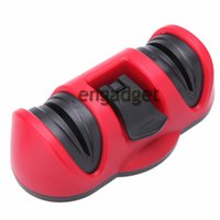 abrasive stone cup - Two Stages Kitchen Suction Cup Knife Shapperner Vacuum Sucker Anti slip Diamond Abrasive Wheel Stone Knives Grinding Tool