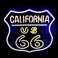 beer california - ROUTE CALIFORNIA REAL GLASS TUBE NEON BULBS LIGHT BEER BAR WALL SIGN GAMEROOM garage