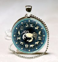 aries gemstones - Zodiac Aries Astrological Sign The Ram Jewelry Aries Astrological Symbol statement pendant glass gemstone necklace