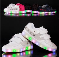 Wholesale EUR New Super Cool Children LED Shoes Kids Boys Girls LED Lights For Shoes Sole Luminous Glowing Shoes