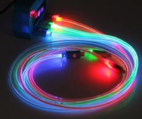 iphone 5 cables - 1 m LED glows Cable for iphone s plus USB charger lighting cable ft Long USB Cord