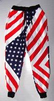american flag sweats - USA American Flag Jogger Pants Star Gym Track Sweat Trousers Sport Dance Unisex casual boys long pants mid waist tcd056