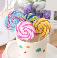 Wholesale Novelty Lollipop erasers Candy Funny Rubber Eraser Office Study Kids Gifts cute stationery
