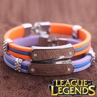 american legends - LoL Bracelet For Men League of Legend Silicon Wrist Strap Online Games Peripheral Jewelry LOL Accessories Good Quality