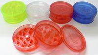 Wholesale 3parts Plastic grinder mm dia smoking grinder Herbal Grinder Amstedam leaf mix desigs mix colors cheaper grinder