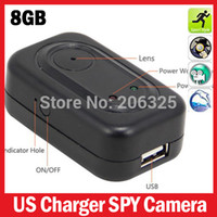 Cheap Hot Sale US 1280*960VGA 8GB Memory Real Travel Charger Spy Hidden Camera 8GB Mini Video Recorder With Motion Detection