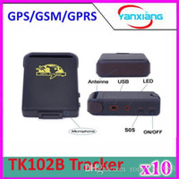 auto window track - 10pcs New Arrival GPS Tracker TK102B Mini GPS Tracking Device Auto Car Pets Kids Motorcycle Tracker ZY DH