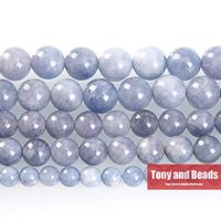 angelite beads - MM Natural Stone Angelite Round Loose Beads quot Strand SAB42