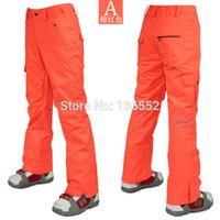 Wholesale womens mint green ski pants red snowboarding pants winter sports trousers waterproof K top quality XS L