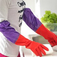 Wholesale 2015 Top Fashion Direct Selling The Latest Thick Velvet Warm Waterproof Rubber Gloves Latex Household Cleaning Dishes