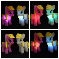 Wholesale My Little Pony Toys LED Color Changing Night Light Colorful Table Lamp Decor Toy Doll My Little Pony Night Light LED Lighted Toys