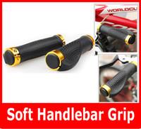 bicycle handlebar grips brown - Bicycle LOCK ON Handlebar Bike Handle Bar Grips Red Blue Brown Yellow Black MTB Parts Pair
