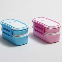 double ovens - New Arrival High Quality Double Layer ML PP Plastic Kids Lunch Box Microwave Oven Fashion Bento Box CM dandys