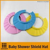 Wholesale Soft Baby Kids Children Shampoo Bath Shower Cap Adjustable Baby Shower Hat Baby Shampoo Cap Wash Hair Shield