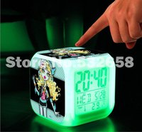 Wholesale Retail And New LED Colors Change Digital Alarm Clock Monster High Night Colorful Glowing toys