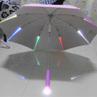 Wholesale Customized Adumbral Umbrellas with LED Lights Semi automatic Long Handle Pink LED Light Umbrellas for Women Plastic Material