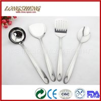 Wholesale Autoclave Stainless Stainless Steel Kitchenware Four Sets Of High grade Sand Light Handle Kitchen Spatula Spoon Cookware Set