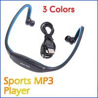 Wholesale 5 New USB Earphones Headphones FM Radio Sports MP3 Player With TF Slot