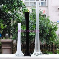 wedding vases - European style glass bottle flower vase feather holder container ornaments wedding party supplies home decoration