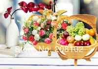 Wholesale Crafts Bamboo Folded Fruit Basket mix order usd