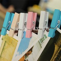 Wholesale mm Painting Wooden Clips Photo Paper Peg Clothespin Craft Clip