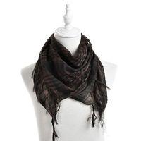 arab neck scarf - Hot Sale Unisex Colors Women Men Checkered Arab Grid Neck Keffiyeh Palestine Scarf Wrap cm