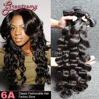 Malaysian Hair brazilian - 3pcs AAAAAA Brazilian Loose Deep Wave Virgin Hair Extensions Loose Curly Hair Weave Weft Wavy Hair Bundles Natural Black Dyeable
