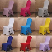 banquet chair covers for sale - 50 Universal White Polyester Spandex Wedding Chair Covers for Weddings Banquet Folding Hotel Decoration Decor Hot Sale