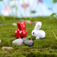 arts rabbit - New min artificial rabbit coney doll fairy garden miniatures gnome moss terrarium kawaii resin crafts home decoration accessories for diy