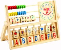 Wholesale New Early baby learning educational toys versatile flap abacus kids wooden toys children learning toys