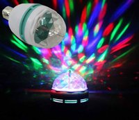 Wholesale E27 W RGB LED Full Color Rotating Lamp Disco Party Bar Club Effect Stage Light order lt no track