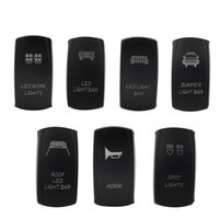 Wholesale New Car Boat Truck Light Toggle switch pin V A V A Bar Carling Style Blue Toggle Rocker SPST ON OFF Switch
