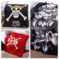 Cheap 150X12cm Japan anime comic One Piece Lufffy skull microfiber blanket on the bed throw blanket bed sheet quilt cosplay bed sheet