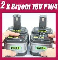 Wholesale 2 Pack RYOBI V Lithium cordless Battery ONE Ryobi Lithium Battery Volt Free Ship order lt no track