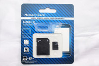 Wholesale NEW DHL GB GB GB Micro SD TF Memory Card Class With Adapter Class TF Memory Cards with Free SD Adapter Retail Package