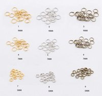 jump rings - 200pcs mm mm mm Gold Silver Bronze Open Jump Rings Connectors Split Ring For Jewelry Findings DIY