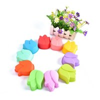 Wholesale Lotus Moulds - New silicone Lotus flower cake mould 9.5*7.5*4CM FDA SGS baking Ma Fen cup mold pudding jelly soap mold