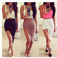 asymmetrical skirts - 2015 Summer Short Skirts Women Fashion Asymmetry Skirts Lady Sexy Nightclub Skirt Knitted Skirts Multicolor Girl Skirts A11A0A