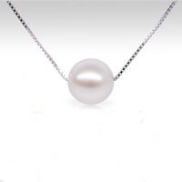 925 silver necklace pendants - Nice Accessories Sterling Silver Chain Necklace mm Round Pearl Pendant Necklace Statement Choker for Women N365